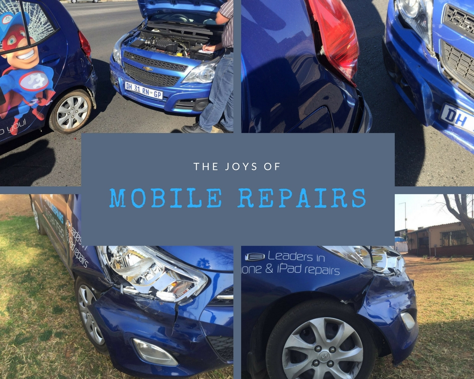 Car accidents while going to repair phones